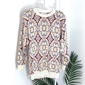 Vintage | Vanderbilt Geometric knit sweater